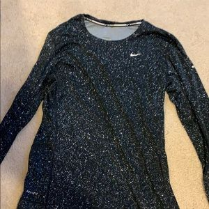 Nike black spotted dry fit workout shirt